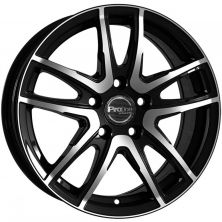 PROLINE VX100 black polished 5x114,3 R17 7J ET49