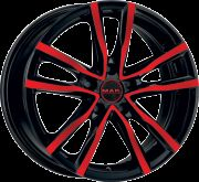 MAK MILANO BLACK AND RED 5x100 R16 6,5J ET40